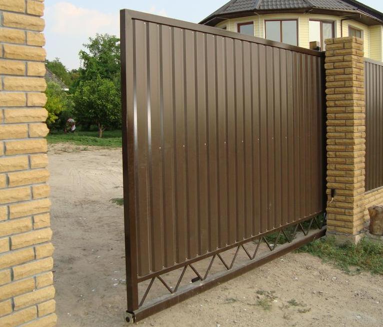 Автоматические ворота из домкрата